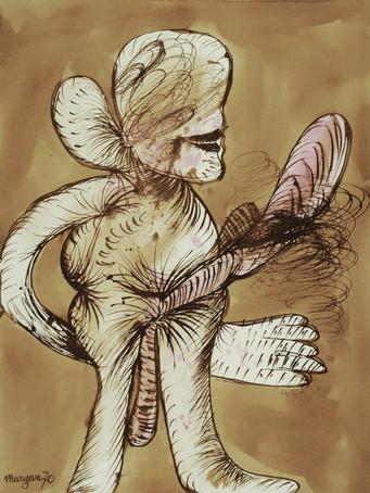Maryan (Pinchas Burstein), ans titre, 1970, encre et aquarelle sur papier, 61 x 46 cm.
