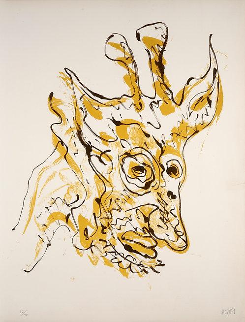 Jacques Grinberg, Le changement en girafe, 1971, lithographie.