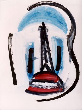 Ilya Grinberg, Burkha, c.2000-2005, gouache sur papier, 65 x 50 cm.