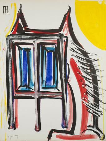 Jacques Grinberg, sans titre, 1994, gouache sur papier, 65 x 50 cm.