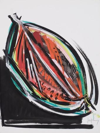 Jacques Grinberg, sans titre, c.1998, gouache et encre de chine sur papier, 65 x 50 cm.