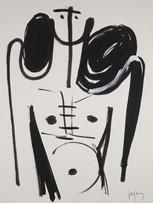 Jacques Grinberg, sans titre, 2003, encre de chine et gouache sur papier, 65 x 50 cm.