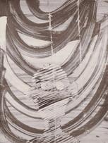 Mao To Laï, Mémoire d'images - Otages - Histoire de Pierre, c.1985-1995, encre de chine sur papier marouflé sur bois, 65 x 50 cm.