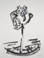 Jacques Grinberg, sans titre, après 2006, encre de chine et gouache sur papier, 76 x 56 cm.