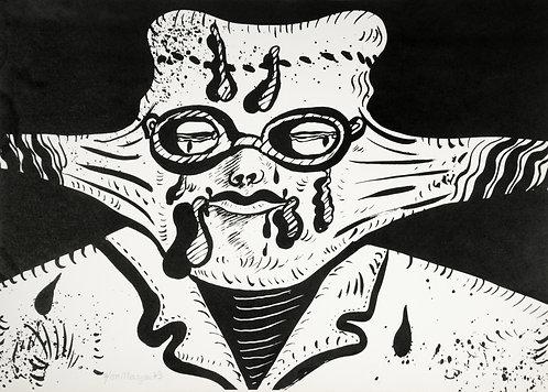 Maryan (Pinchas Burstein), sans titre, 1973, lithographie sur papier, 50 x 70 cm