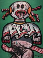 Maryan (Pinchas Burstein), sans titre, 1975, acrylique sur toile, 102 x 76 cm.