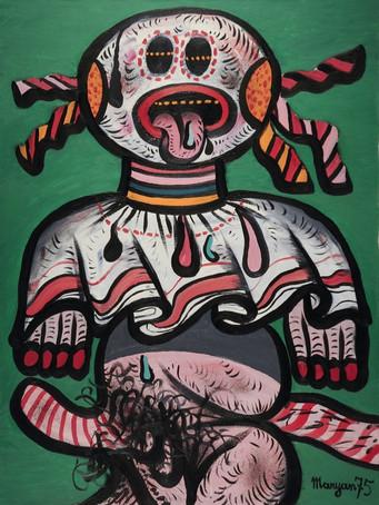 Maryan, sans titre, 1975, acrylique sur toile, 102 x 76 cm