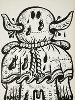 Maryan (Pinchas Burstein), sans titre, 1973, lithographie sur papier, 70 x 50 cm.