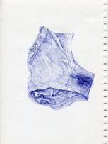 Tereza Lochmann, Perdue, 2019, stylo bille sur papier, 30 x 21 cm.