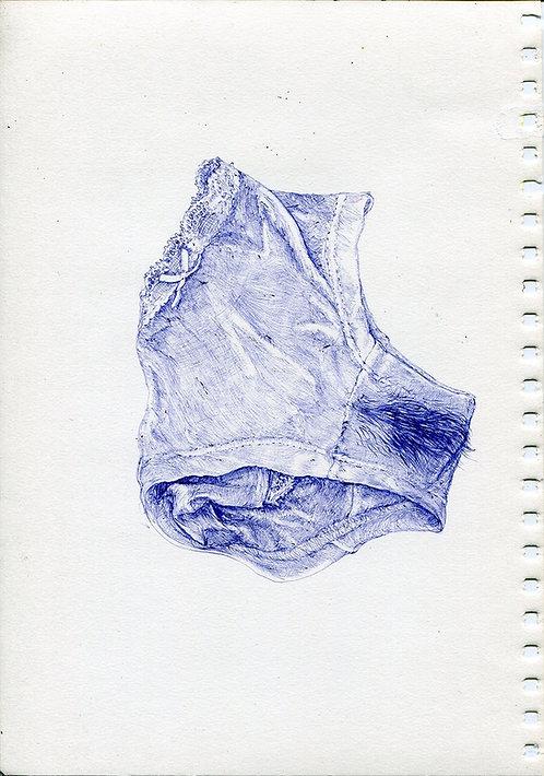 Tereza Lochmann, Perdue, 2019, stylo bille sur papier.