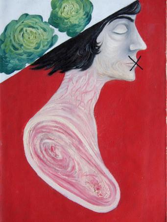 Fernand Teyssier, Profil I, 1964, huile sur toile, 61 x 38 cm.