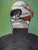 Jacques Grinberg, Grand mutilé, 1964, huile sur toile, 195 x 130 cm.