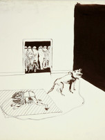 Mao To Laï, sans titre, c.1970-1973, encre de chine sur papier, 50 x 65 cm.
