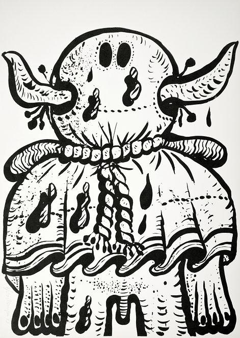 Maryan (Pinchas Burstein), sans titre, 1973, lithographie sur papier, 70 x 50 cm