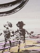 Mao To Laï, sans titre, c.1985-1995, encre de chine et pastel sur papier marouflé sur bois, 69 x 71 cm.