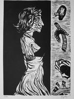 Fernand Teyssier, sans titre, 1964, linogravure sur papier, 51 x 36 cm.