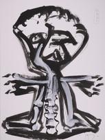 Jacques Grinberg, sans titre, c.2007-2008, encre de chine et gouache sur papier, 76 x 56 cm.