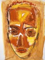 Ilya Grinberg, Stephanie, c.1991-1995, gouache sur papier, 65 x 50 cm.