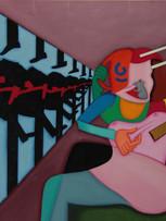 Fernand Teyssier, Les leçons, 1978, huile sur toile, 60 x 81 cm.