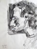 Ilya Grinberg, Autoportrait, c.1991-1995, gouache sur papier, 65 x 50 cm.