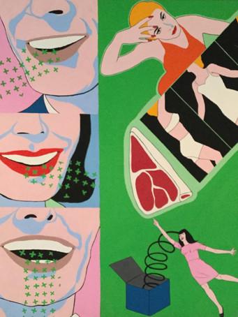 Fernand Teyssier, sans titre, c.1966-1967, acrylique sur toile, 108 x 96 cm.