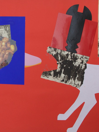 Fernand Teyssier, sans titre, 1971, collage.