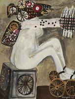 Maryan (Pinchas Burstein), sans titre, 1960, huile sur toile, 81 x 65 cm.