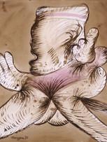 Maryan (Pinchas Burstein), sans titre, 1970, encre et aquar