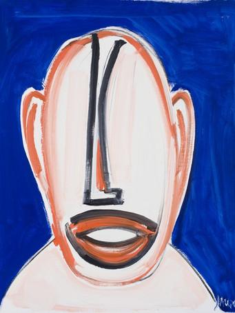 Jacques Grinberg, sans titre (série Les regards), 2010, huile sur toile, 81 x 65 cm.