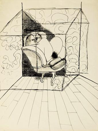 Mao To Laï, sans titre, c.1968-1970, encre de chine sur papier, 40 x 32 cm.