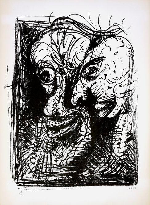Jacques Grinberg, sans titre, c.1970, lithographie.