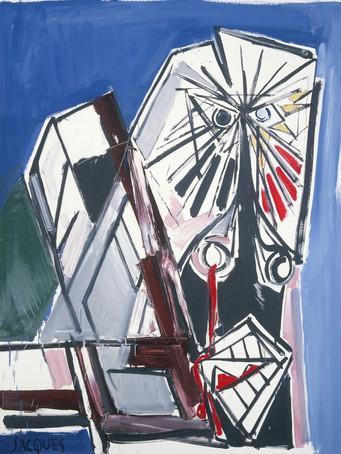 Jacques Grinberg, Barabbas, c.1990-1995, huile sur toile, 146 x 114 cm.