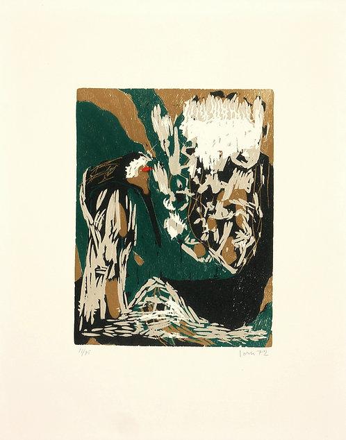 Asger Jorn, La Mère Ibis, 1972, gravure sur bois.