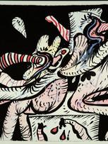 Maryan (Pinchas Burstein), sans titre, 1967, encre et aquarelle sur papier, 56 x 77 cm.