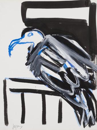 Jacques Grinberg, Tourtereau, 1996, gouache et encre de chine sur papier, 65 x 50 cm.