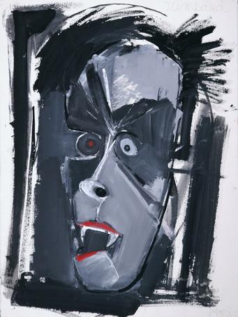Jacques Grinberg, Rimbaud, c.1986, gouache sur papier, 76 x 56 cm.