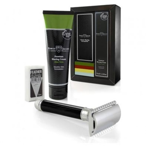 Edwin Jagger Safety Razor & Cream Set