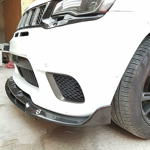 Full carbon fiber double splitter for 17+ jeep srt and Trackhawk