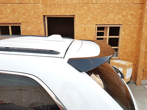 Upper spoiler/wing in carbon fiber