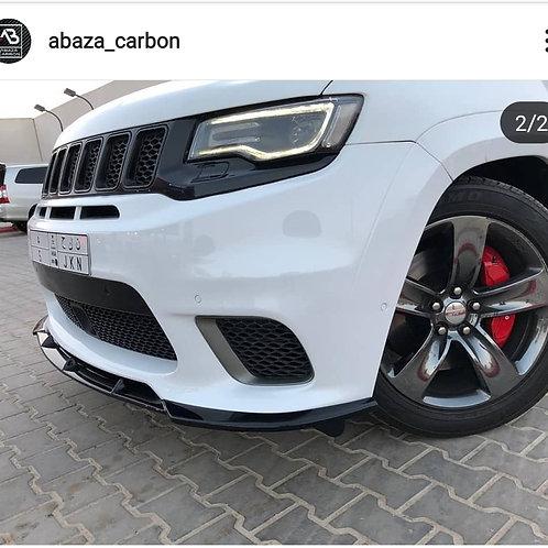 Abaza GLOSS BLACK 2017+ jeep srt trackhawk splitter FPV