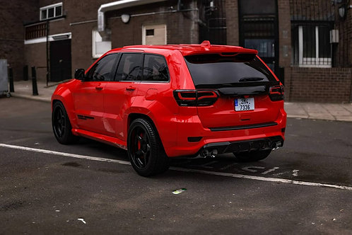 Widediffsplitt rear bumper diffuser in abs 2017+ jeep srt and trackhawk