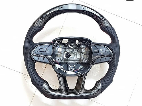 2014-2019 Mopar steering wheel carbon leather and led