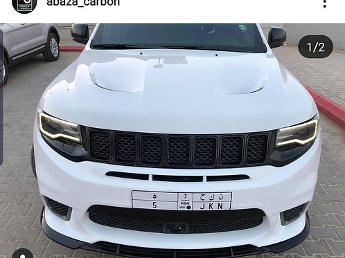 Abaza matte BLACK FPV bumper splitter 2017+ jeep srt and trackhawk ONLY