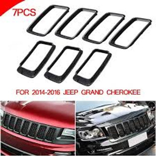 2014 to 2016 Grand Cherokee SRT gloss black grill rings