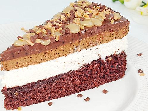 Cake Mousse Capuccino com Caramelo