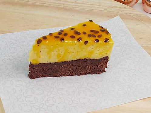 Cake brownie de maracujá