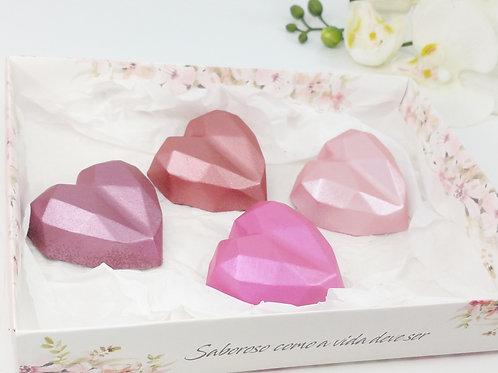 Coração Lapidado - Kit3