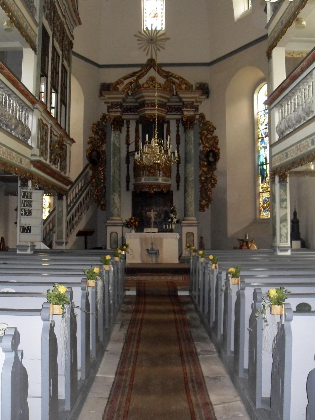 Kirchenschiff Kirche Wallendorf