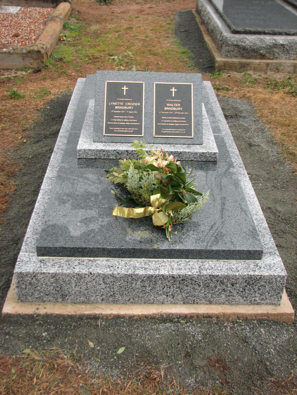 Different coloured granite memorial