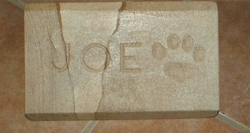 Pet memorial stone